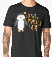 Crazy Penguin Lady  Men's Premium T-Shirt