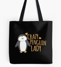 Crazy Penguin Lady  Tote Bag