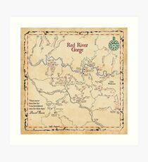 Red River Schlucht-Karte, Daniel Boone National Forest Kunstdruck