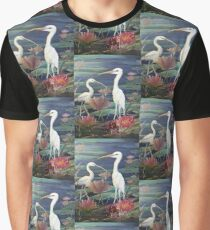 Herons Resting Graphic T-Shirt