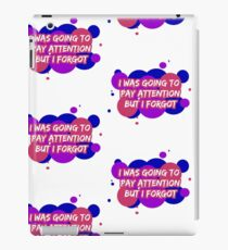 Bisexual Attention Slogan iPad Case/Skin