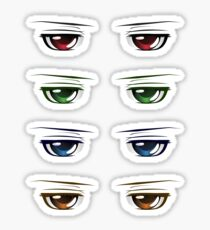 Colorful Male Eyes 3 Sticker