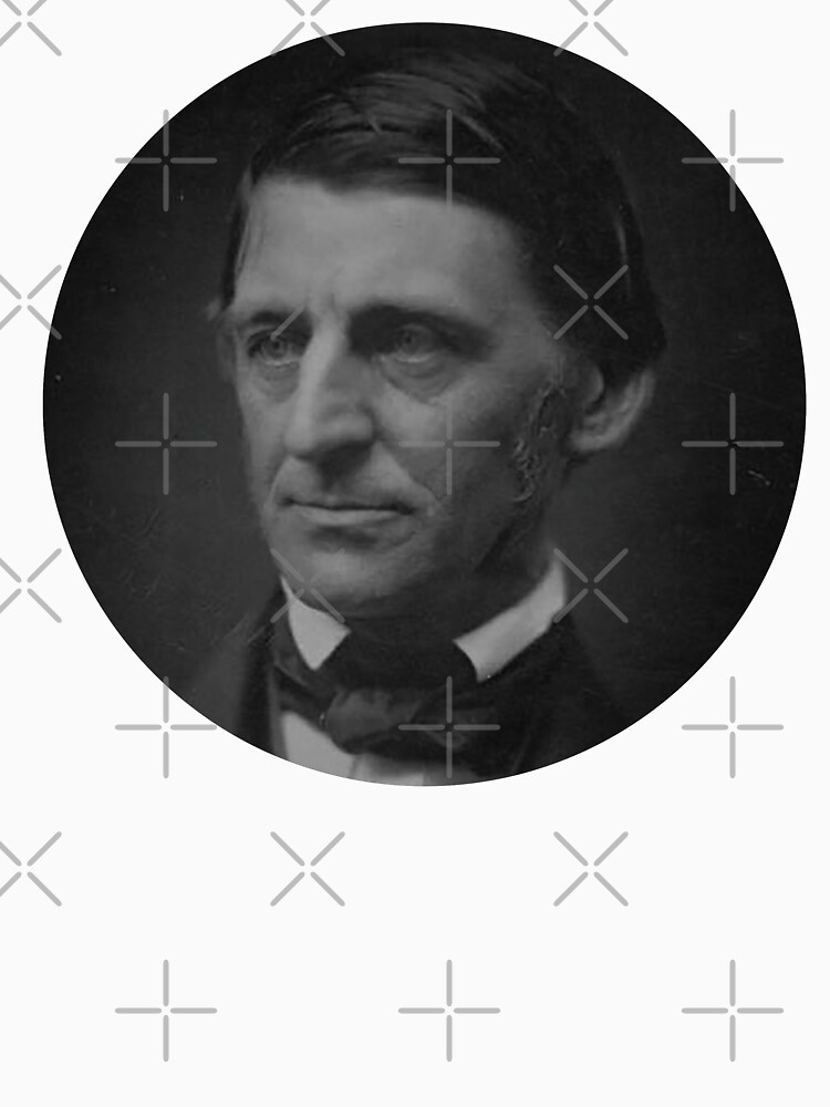 Ralph Waldo Emerson - schwarz und weiß von savantdesigns