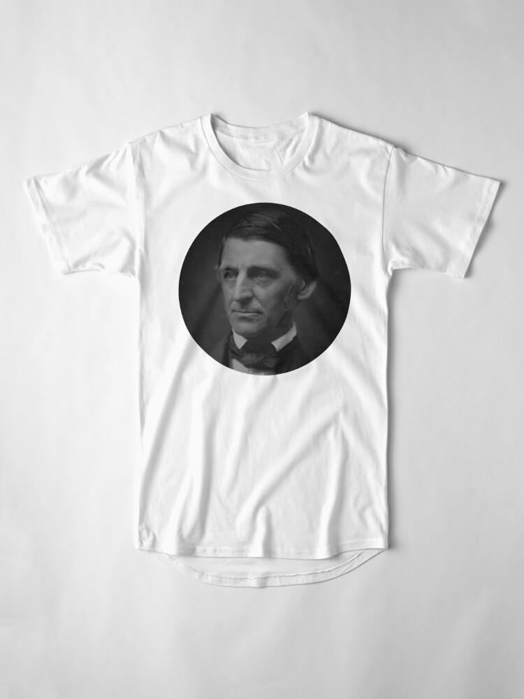 Alternative Ansicht von Ralph Waldo Emerson - schwarz und weiß Longshirt