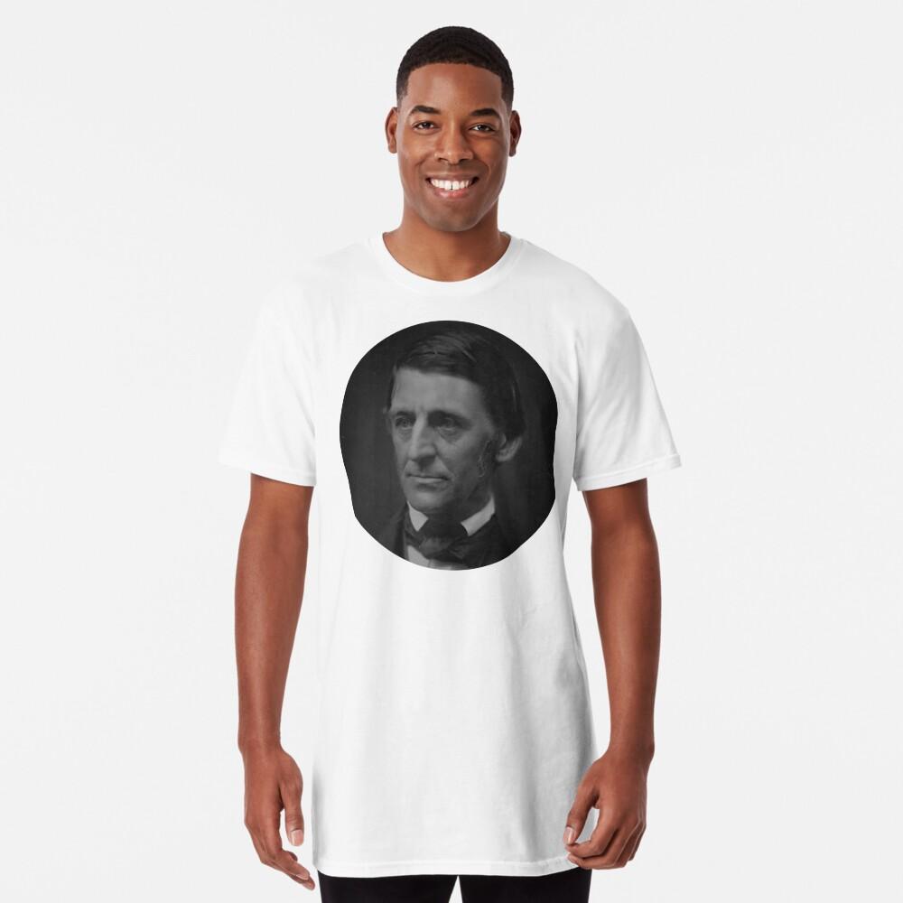 Ralph Waldo Emerson - schwarz und weiß Longshirt