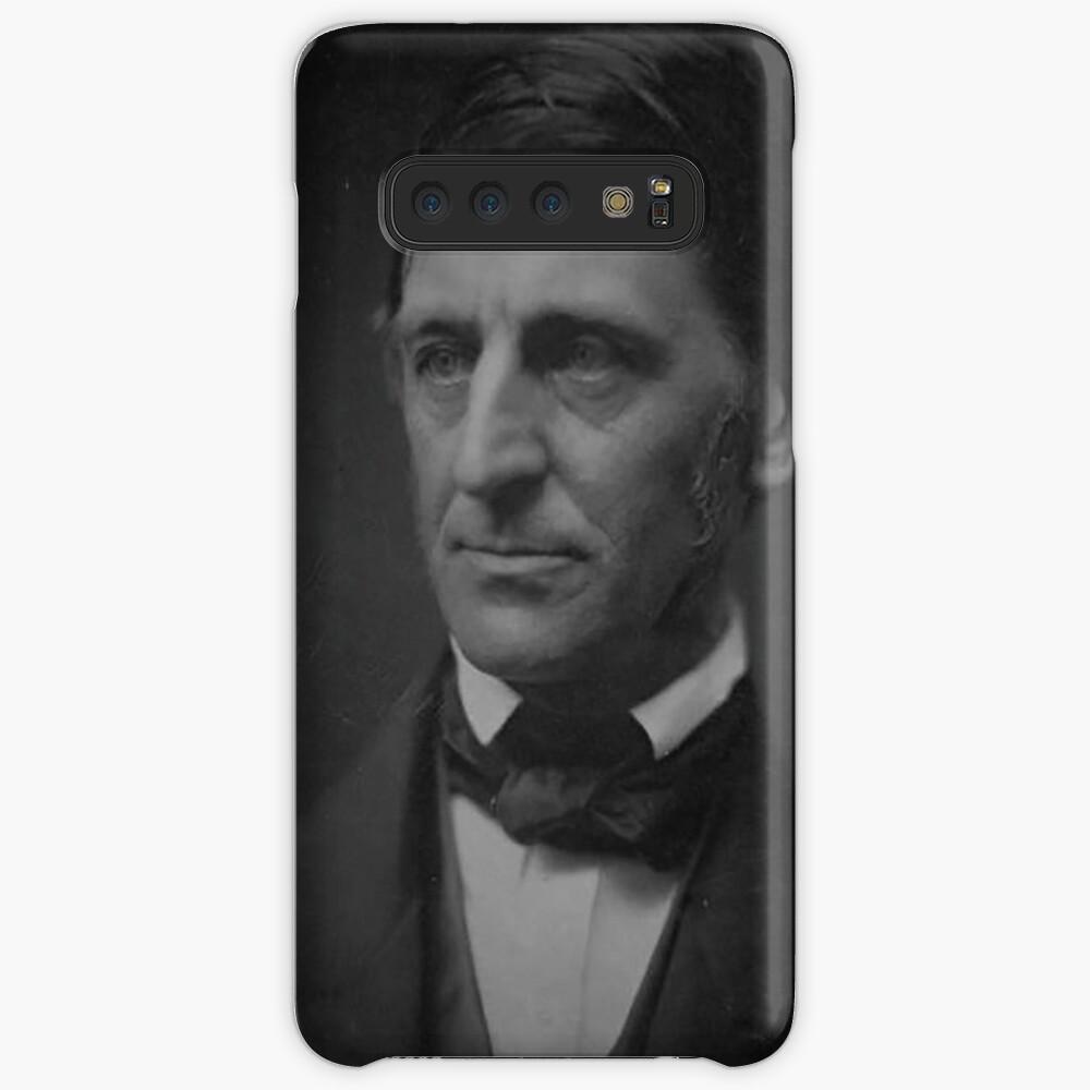 Ralph Waldo Emerson - schwarz und weiß Hülle & Klebefolie für Samsung Galaxy