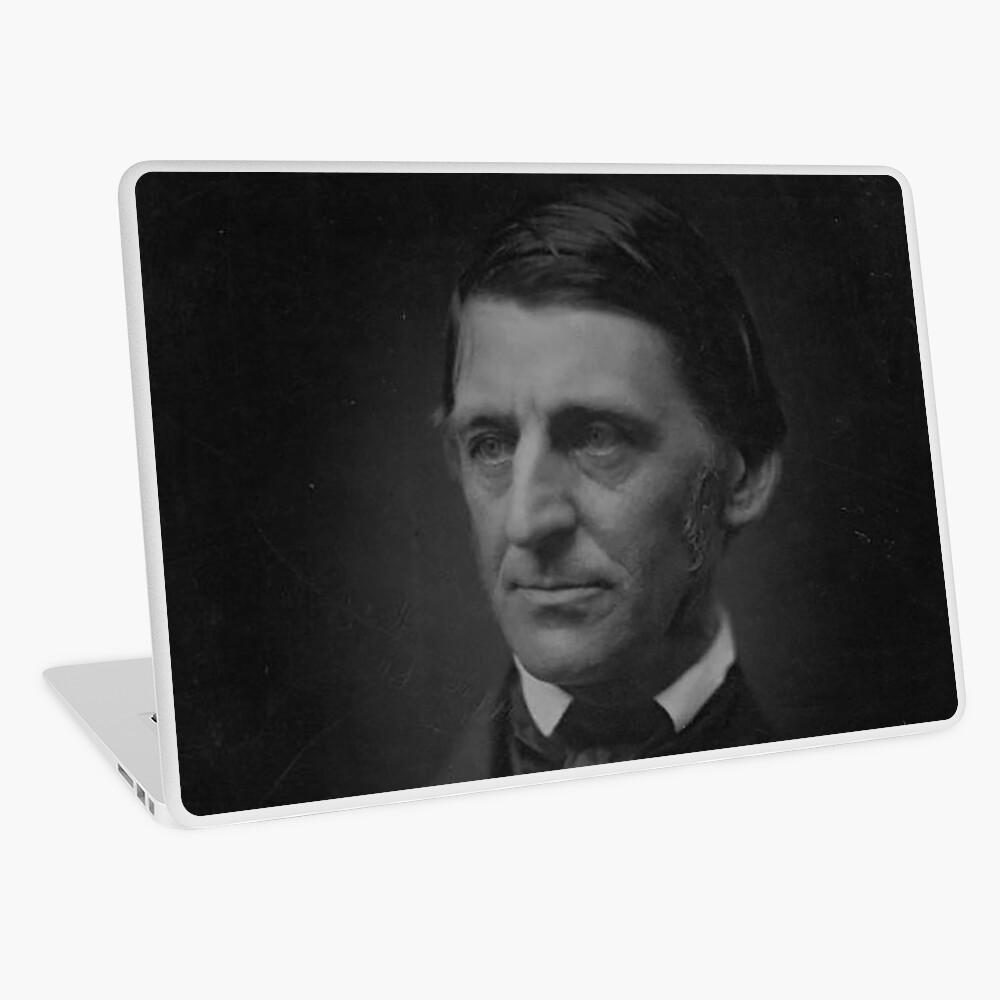 Ralph Waldo Emerson - schwarz und weiß Laptop Folie
