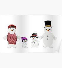 Snow Man Family Poster