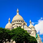 Skies Above the Sacre Coeur Basilica by Marylou Badeaux