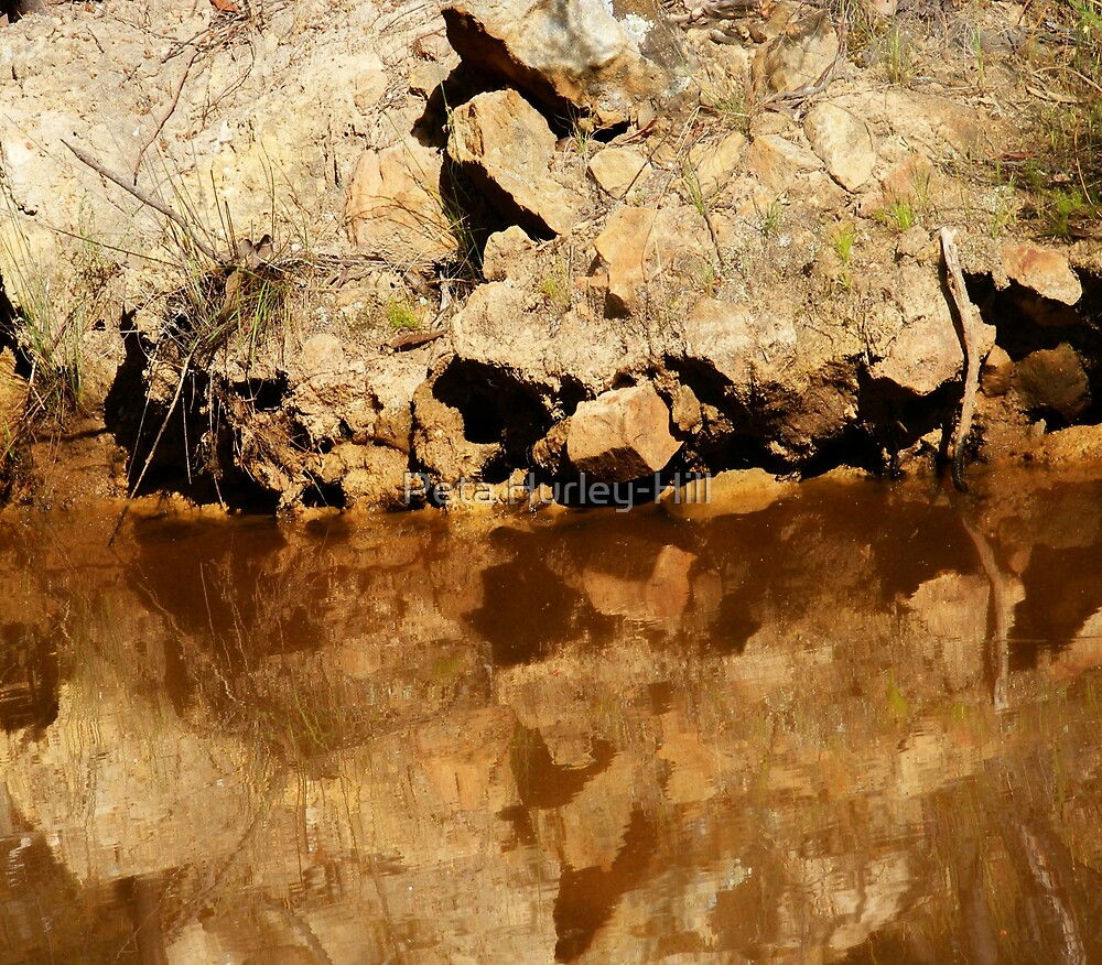 reflected rocks by Peta Hurley-Hill