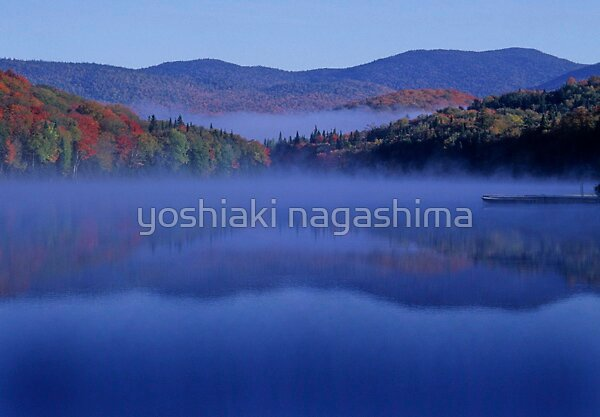 Autumn  Lake by yoshiaki nagashima