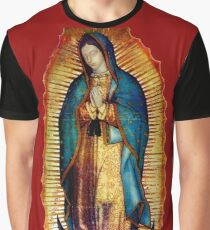 Our Lady of Guadalupe Tilma Replica Graphic T-Shirt