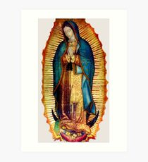 Our Lady of Guadalupe Tilma Replica Art Print