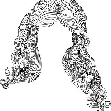 Curly hair style in black and white 2 by AnnArtshock
