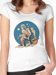 Damsel in Space Women's Fitted Scoop T-Shirt