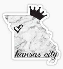 Kansas City Marble Crown Design Sticker