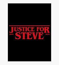 Justice for Steve - Stranger Things Inspired Photographic Print