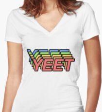 yeet Women's Fitted V-Neck T-Shirt