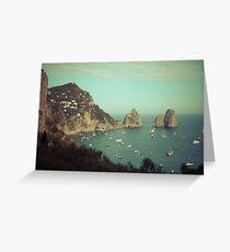 Amalphi coast, Capri, Italy 4 Greeting Card