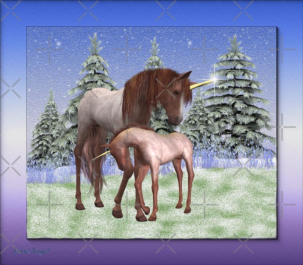Winter born .. a unicorns tale by LoneAngel