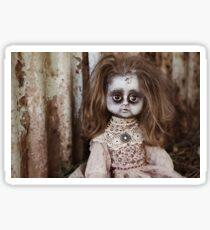 Creepy Vintage Doll Sticker