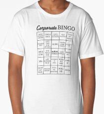 Corporate Jargon Buzzword Bingo Card Long T-Shirt