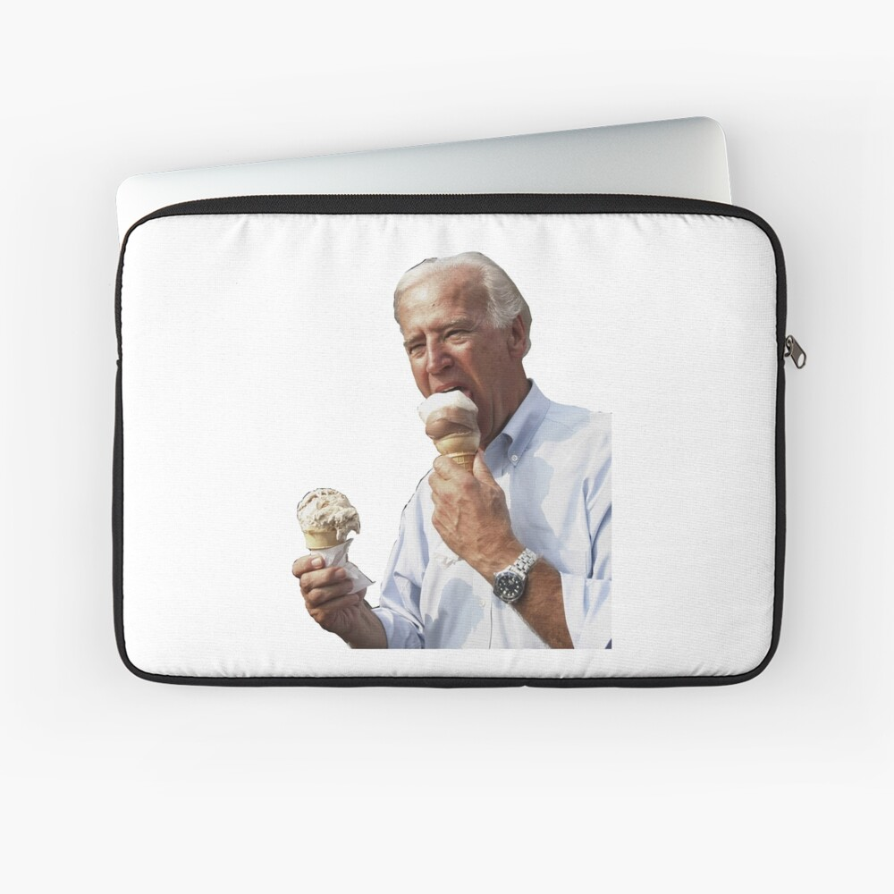JOE BIDEN EATING ICE CREAM Laptop Sleeve