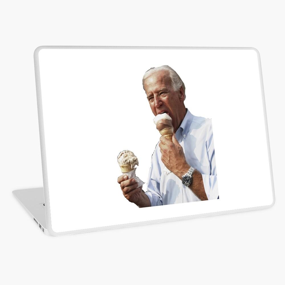 JOE BIDEN EATING ICE CREAM Laptop Skin