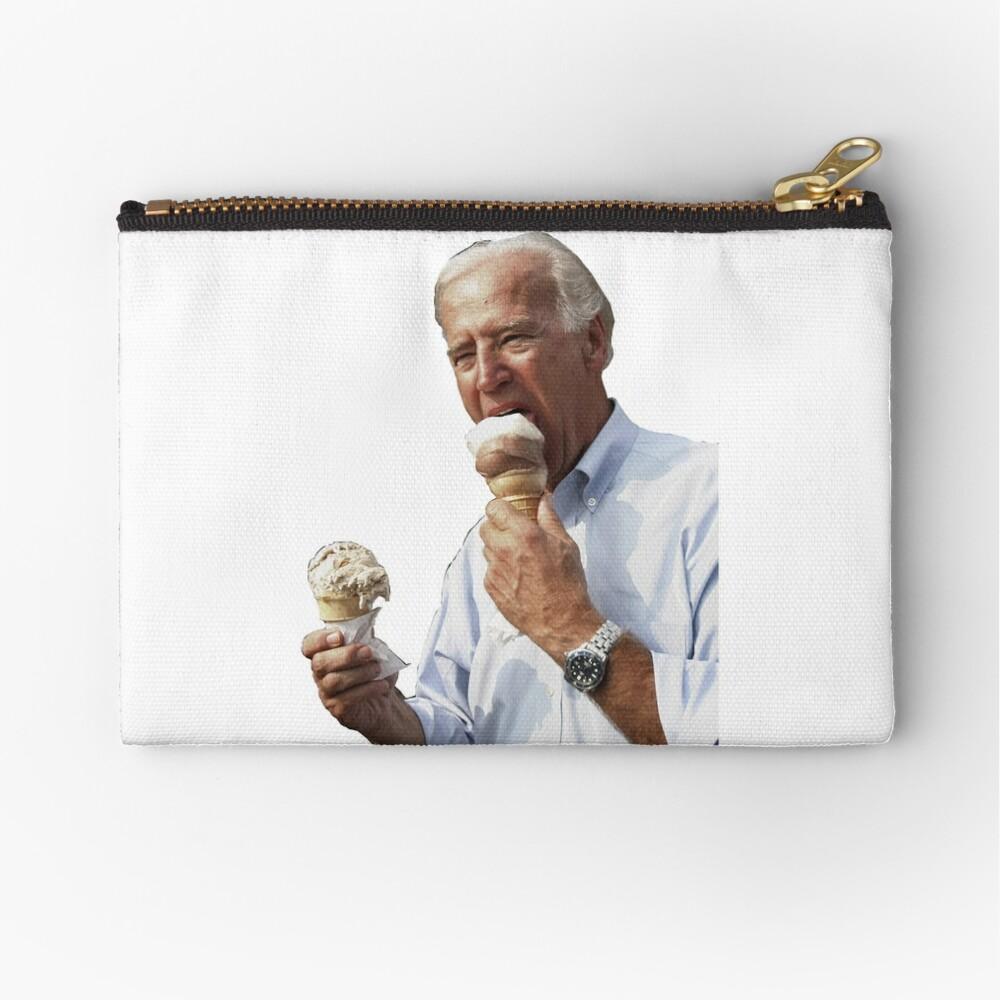 JOE BIDEN EATING ICE CREAM Zipper Pouch