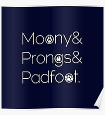 Moony & Pongs & Padfoot Poster