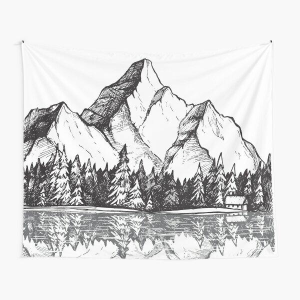 imagen Cartel Bosque Arte Escénico Lámina-Frost cubierto de nieve de madera oscura