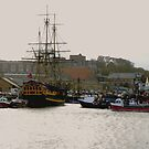 Grand Turk in Whitby Harbour by Trevor Kersley