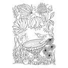 Birdbath Bliss Colour It In by Mariana Musa