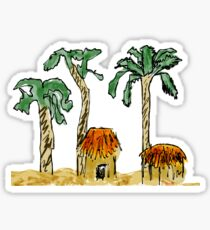 Palm Trees and Paradise Sticker