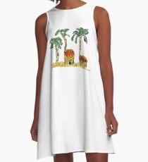 Palm Trees and Paradise A-Line Dress