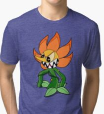 Cuphead - Cagney Carnation Tri-blend T-Shirt