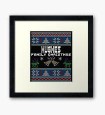 Hughes Ugly Family Christmas Gift Idea Framed Print