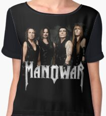 manowar - And those eyes, like break of day,  Chiffon Top