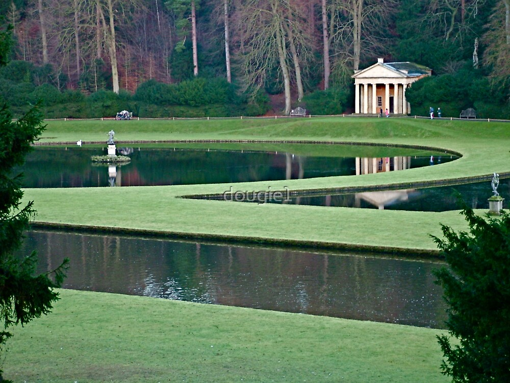 Fountains Abbey - water gardens 1 by dougie1