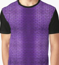 BRICK1 BLACK MARBLE & PURPLE BRUSHED METAL Graphic T-Shirt