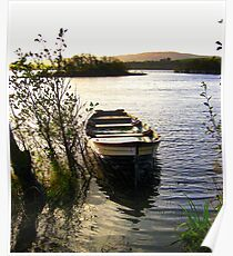 Boat on a Lake Poster