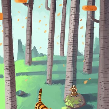 Tiger and Bunny in the woods by happycricketbox