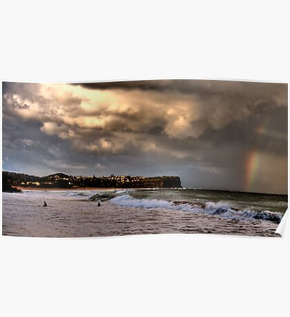 Stormy Weather - Warriewood Beach - The HDR Series Poster