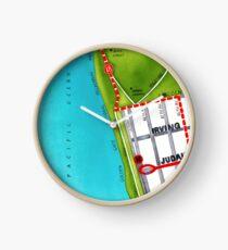 San Francisco map - Outer Sunset Clock