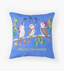 Kookaburras Australian Christmas Carols  Throw Pillow