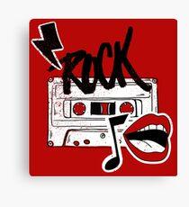 Rock cassette Canvas Print