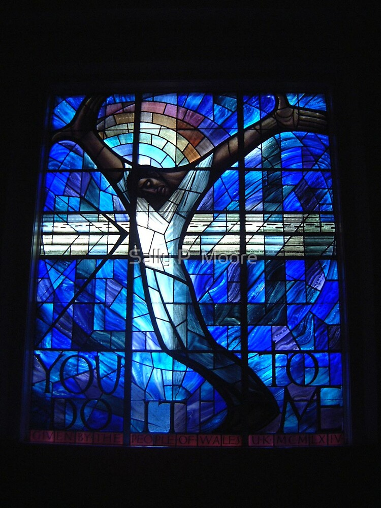 16th Street Baptist Church Stained Glass Window by Sally P  Moore