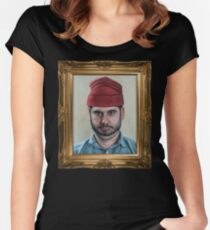 H3H3 PORTRAIT  Women's Fitted Scoop T-Shirt