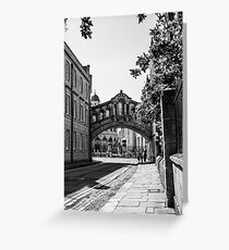The Bridge of Sighs, Oxford, England Greeting Card