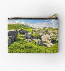 boulders on the mountain meadow Studio Pouch